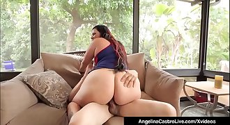 Curvy Cuban Angelina Castro Takes Big Black Cock In Her Box!