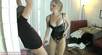 Ball Collector's New Victim with Vanessa Vixon PANTYHOSE LEGGINGS BALLBUSTING