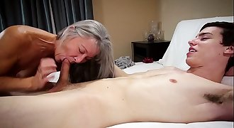 Taboo Grandmother Leilani Lei Fucks Grandson For Bday Present
