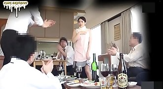 geeky wife coerced gangbang in front of husband  [sub english] part 1