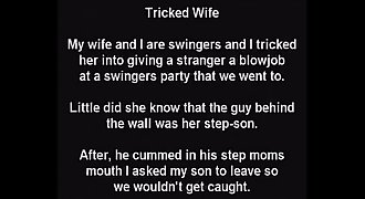 Stepmom Tricked! Unknowingly Sucks Stepsons Cock At Gloryhole