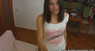 DOUBLEVIEWCASTING.COM - CUTE STASY IS BUSTED HARD (POV VIEW)