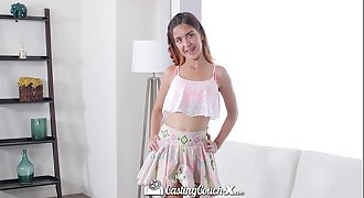 CastingCouch-X - Casting agent fucks little teenage Sally Squirt