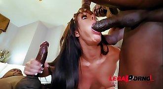 Sexy Slut Jennifer White Takes Two Big Black Cocks