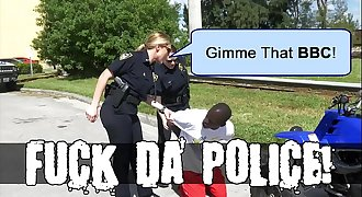 BLACK PATROL - Illegal Street Racing Black Thugs Get Busted By MILF Cops