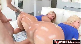 Lucky Guy Gets Two Curvy Beauties - Karen Fisher & Julie Cash