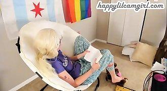 Blonde Girl Reading An IKEA Memoir Ignoring You