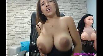 Pretty Latina Sucking Huge Nipples