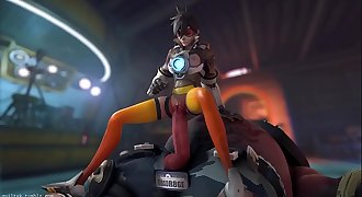 Overwatch - Tracer x Roadhog (Animated, Sound) [Guilty]