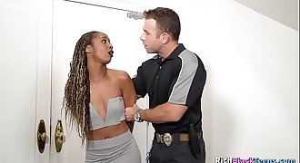 Black MILF Caught Escaping By Police