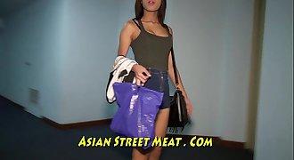 Gold Underwear Buggered Up Her Thai Ass