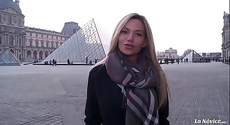 LA NOVICE - Busty Russian blondie Subil Arch gets pounded hard by French hard-on