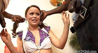 Tiny Schoolgirl Huge black cocks