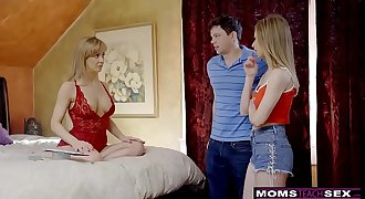 MomsTeachSex - Chesty Mummy Gets Hot Mother's Day Threesome! S8:E4