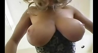 Hot Blonde Mummy with Big Natural Boobs