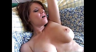 Beautiful busty old spunker loves to play with her juicy vagina