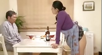 Japanese MILF wife gets fucked by her lover while her husband was listening outside the house - Pt2 On HdMilfCam.com