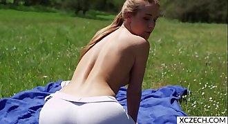 Erotic yoga with beautiful pornstar Alexis Crystal - 4K - XCZECH.com 1 1 1