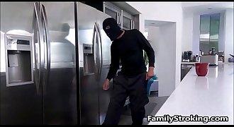 Dad Fulfills Teen Step Daughters Fantasy Fucking A Burglar - FamilyStroking.com