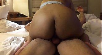 Big Ass Latina Thot Fucks In A Hotel