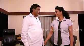 Desi School Girl Romancing With Professor For Promotion - Big Boob Pressed Bgrade