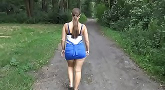 Oral pleasure IN THE FOREST AND FUCK IN MY HOME