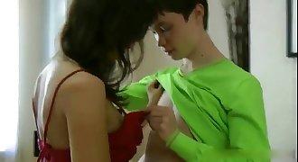 A103. Teen boy seduced by nice girl