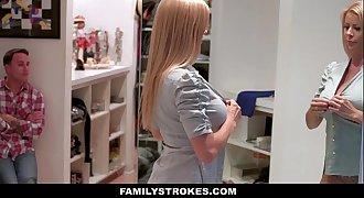 FamilyStrokes - Milf Hardcore Fucked By StepSon